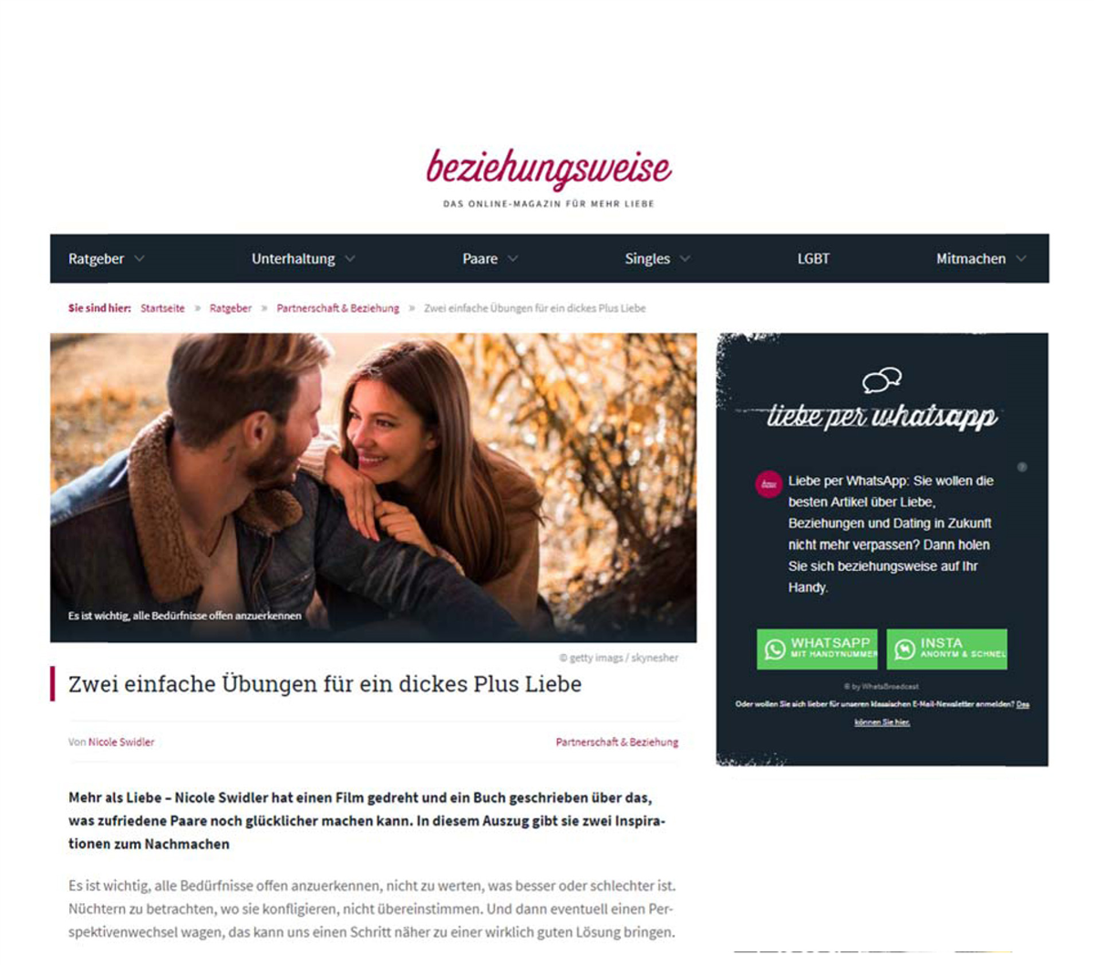 Nummer eins kostenlose Online-Dating-Website